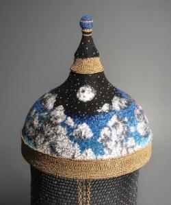 Grigsby Beadwork - Helmet - Air (back detail)