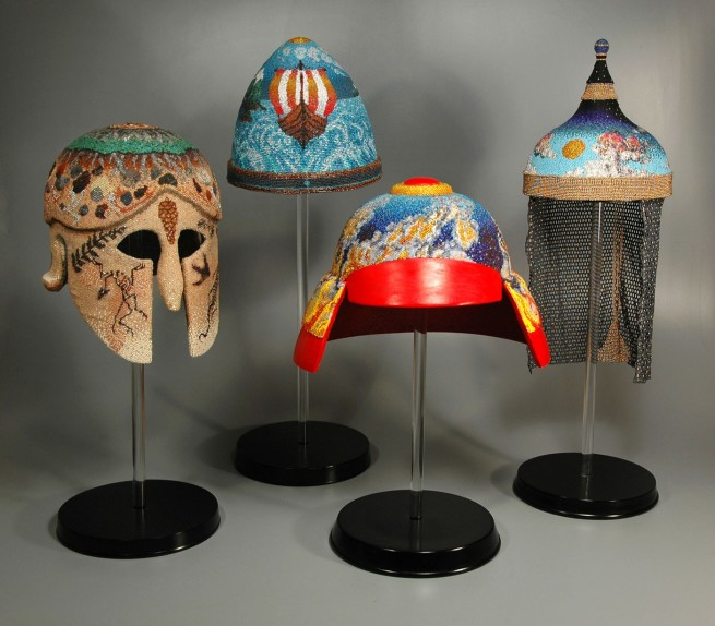 The Four Elements - Grigsby Beadwork - Helmet series