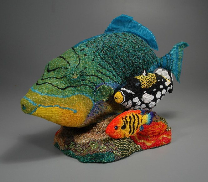 Grigsby Beadwork - Fish Teapot (view 1)
