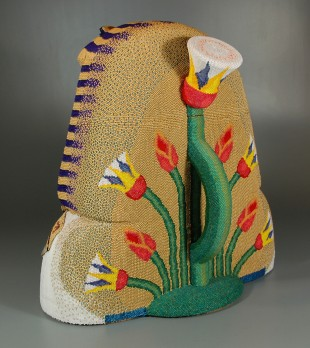 Egyptian teapot (beadwork sculpture)