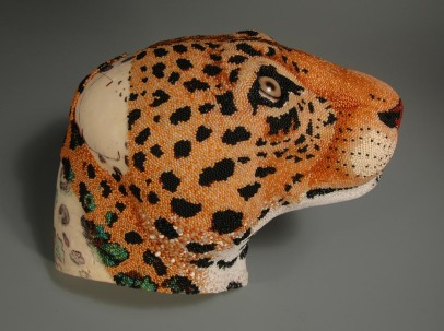 Leopard head, side view