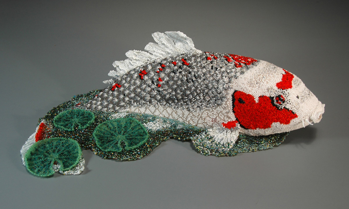 Jeannie s koi leslie b grigsby beadwork for Koi fish beads