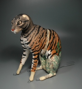 Grigsby Beadwork Tigger-Tiger in progress