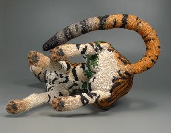 Grigsby Beadwork Tigger Tiger completed - underside