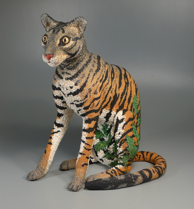 Grigsby Beadwork - Tigger Tiger completed - overall