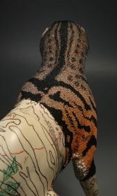 Grigsby Beadwork Tigger-Tiger in progress - view 3